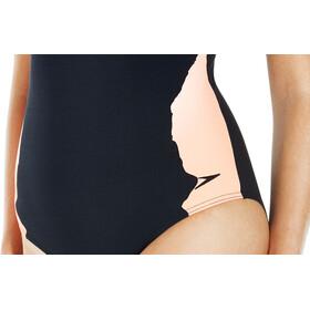 speedo Sculpture AuraGleam 1 Piece Swimsuit Women Black/Fluo Orange